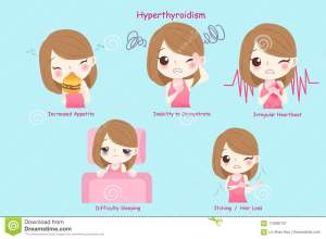 woman-hyperthyroidism-blue-background-woman-hyperthyroidism-115995107